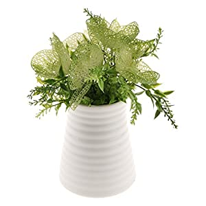 Homyl Bunch Artificial Plants Seaweed Garden Wedding Decor Phalaenopsis/Vine/ Persian Grass/Perilla Leaves/Staghorn Fern/Sago Cycas Leaves/Air Grass 8