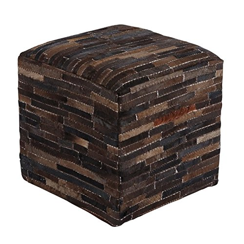 Cowhide Dark Brown Pouf by Signature Design by Ashley
