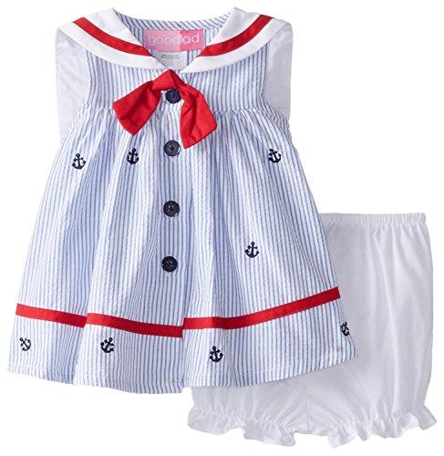 Good Lad Baby-Girls Newborn Schifli Nautical Dress, Light Blue, 6-9 Months -