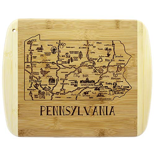Totally Bamboo A Slice of Life Pennsylvania Bamboo Serving and Cutting Board