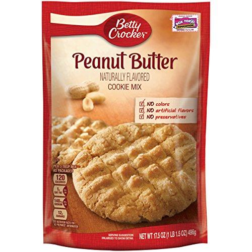 Betty Crocker Baking Mix, Peanut Butter Cookie Mix, 17.5 Oz Pouch