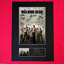 WALKING DEAD Signed Signed Quality Mounted Photo (PRINT) A4 291 x 210mm