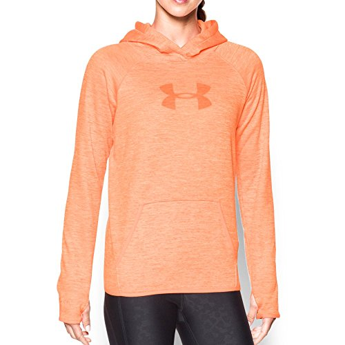 Womens Orange Hoody Sweatshirt (Under Armour Women's Storm UA Logo Twist Hoodie, Afterglow/Cyber Orange, Medium)