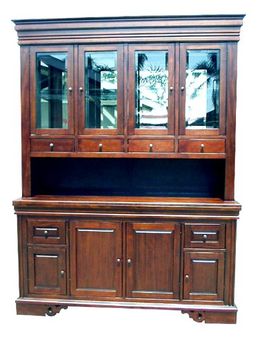 D-ART COLLECTION Mahogany Wood China Curio Hutch (Collection Curio China)