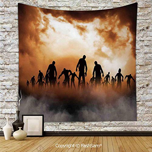 FashSam Tapestry Wall Hanging Zombies Dead Men Body in The Doom Mist at Night Sky Haunted Decor Tapestries Dorm Living Room Bedroom(W39xL59)