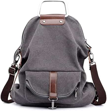 eb115257e1f6 Vintage Canvas Backpack For Women School College Travel Laptop Portable  Rucksack