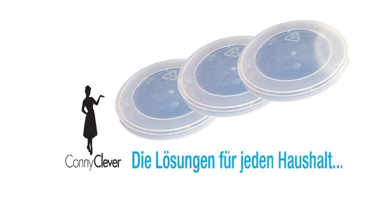 Conny Clever Konserven- und Dosendeckel, Deckel Universaldeckel aus Kunststoff - spülmaschinengeeignet, Menge: 3 Stück Menge: 3 Stück WAK
