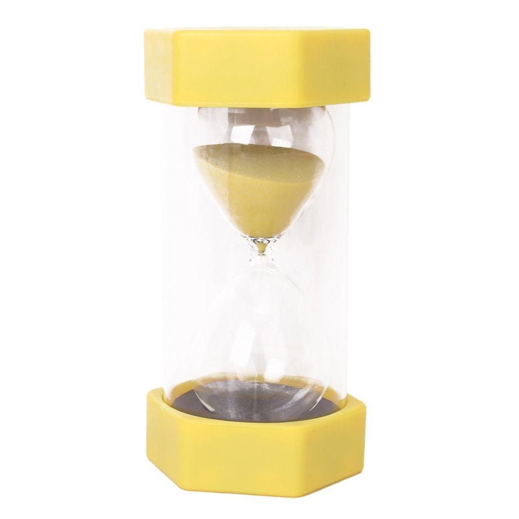 Z/ähneputzen Spielen Yoga Maske Sharplace 1//15//20//30//45//60 Minuten Sechseckig Sandglass Sanduhr Dekoration Timer f/ür Kochen Gelb 15 Minuten