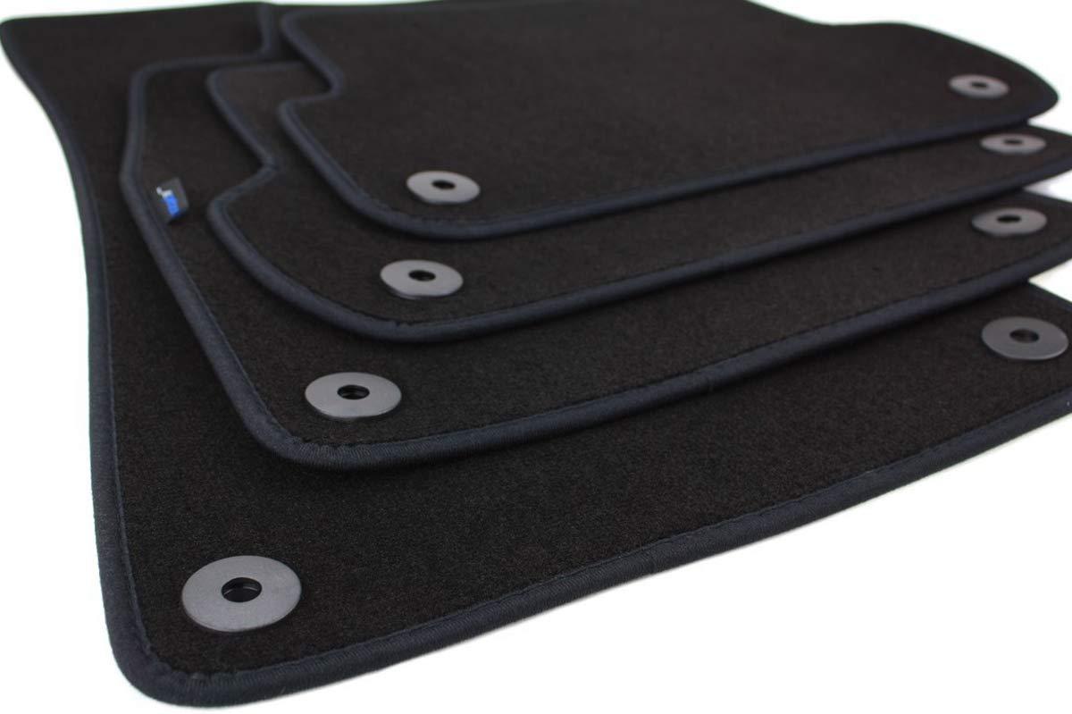 KH piezas Felpudo y ante de Auto para Original Calidad Pl/ástico Alfombrilla 1/piezas conductores Negro