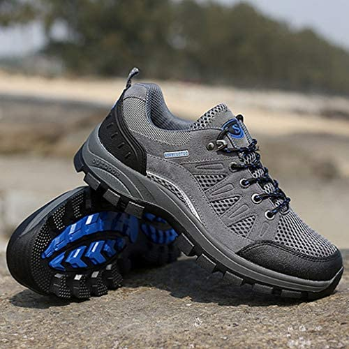 ウォーキングシューズ ハイキングシューズ メンズ スニーカー シューズ 靴 レースアップ トレッキング ローカット 通気性 登山靴 耐摩耗性 遠足 幅広 歩きやすい 防滑クライミングシューズスポーツシューズ