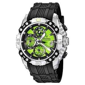 Festina F16543/8 - Reloj cronógrafo de cuarzo para hombre con correa de caucho, color negro