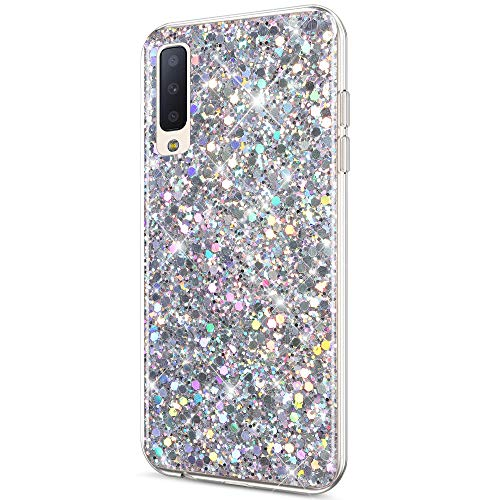 - Case for Galaxy A7 2018 / A750 Case Glitter Bling Crystal Sparkly Shiny Bling Powder 3D Diamond Paillette Slim Glitter Flexible Soft Rubber Gel TPU Protective Case Cover for Galaxy A7 2018,Silver
