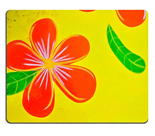 msd-customized-natural-rubber-mouse-pad-personalized-custom-picture-frangipani-flowers-paint-on-yell