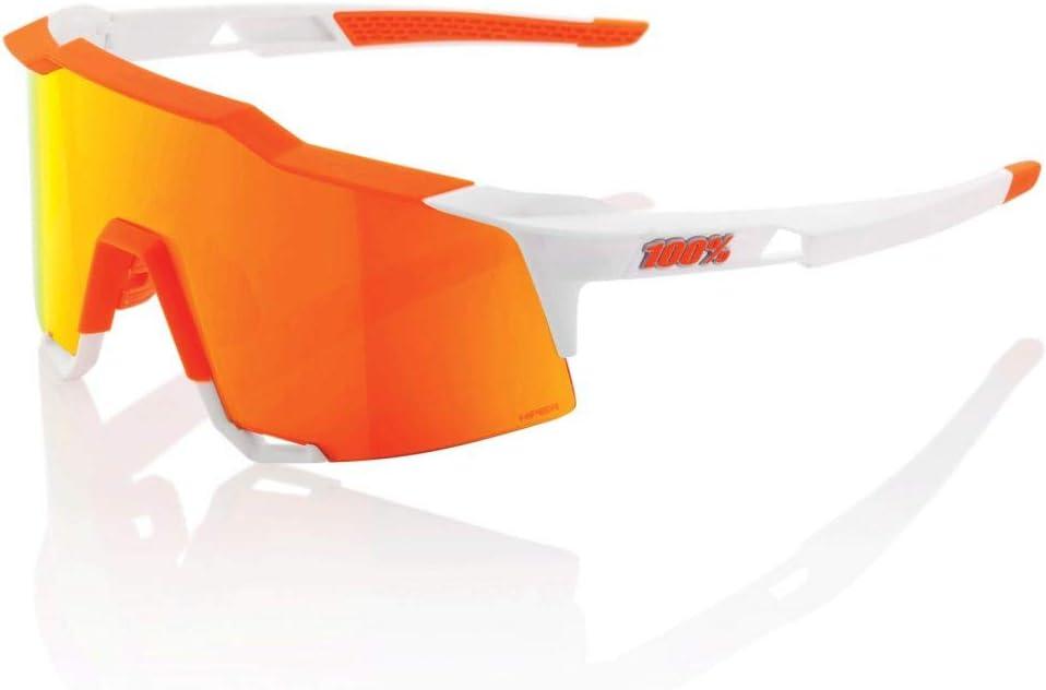 100 unisex-adult Speedlab 61001-254-43 Speedcraft-Soft Tact Day Glo Orange White-HiPER Red Multilayer Mirror Lens, Free Size