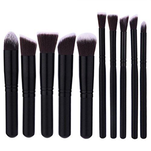 10Pcs Pinceaux à Maquillage Set de Outils