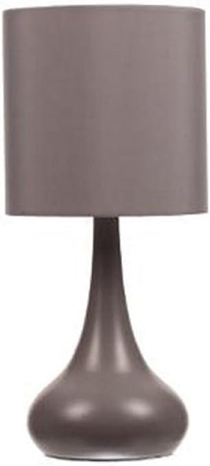PEGANE Lampe de Chevet Tactile Couleur Grise, H 33 x D 15 cm