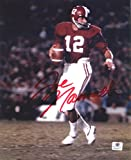 Joe Namath Alabama Crimson Tide Signed Autographed 8 x 10 Photo COA