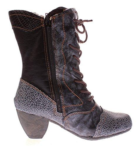 42 36 Schuhe Print Reptil Gr Stiefel Damen Echt Winter Gefüttert 8991 Leder TMA nxa7BSUW