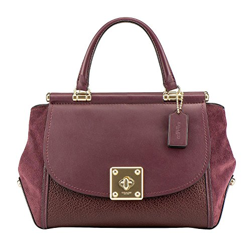 main femme pour à Sac Light Oxblood Gold Coach xq4gpA
