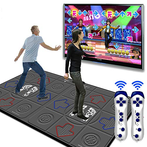 Dance mat 3D Double Yoga Somatosensory Game Machine 32g+8g Running Memory,Wireless Connections Pu Material Cozy Massage Blanket, Unlimited Update Song Game by Dance mat (Image #8)