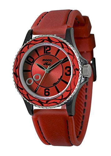 Moog Paris Huit Women's Watch with Red Dial, Red Strap in Silicon - M45524-004
