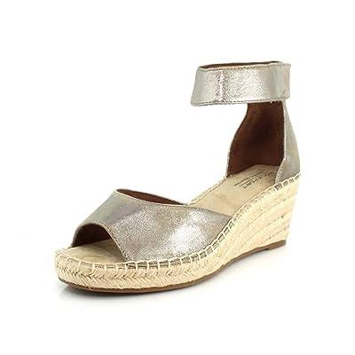 Rockport Womens Cobb Hill Kairi Peep Toe Wedge Espadrille Sandal   Shoes