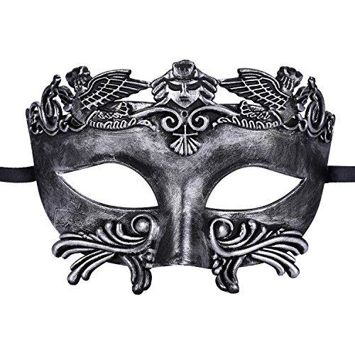 Mens Masquerade Mask Greek Roman Party Mask Mardi Gras Halloween (Men Masquerade Mask)
