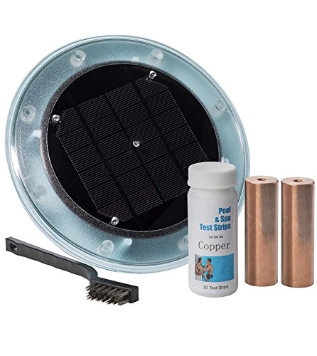 "Blue Sea Solar Ionizer Kills Algae In The Summer ""AND"" Winter Using 85% Less Chlorine  100% Natural  Save $300 to $500 per year in chemicals  Helps Reduce Eye Irritation  Safe For Year Rou"