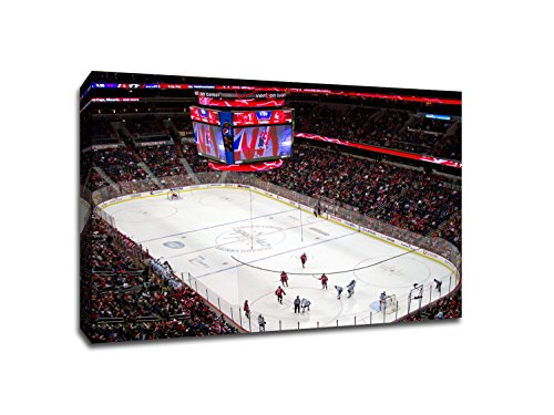 Center - Hockey Arenas - 22x30 Gallery Wrapped Canvas Wall Art (Verizon Arena)