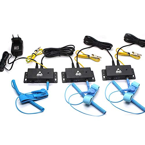 (Genekun Auto-Alarm Anti Static ESD Wrist Strap Tester one Output Anti-Static Online Monitor)
