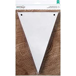 American Crafts 7-Piece DIY Shop Chipboard Pennant Banners, 6 by 9-Inch