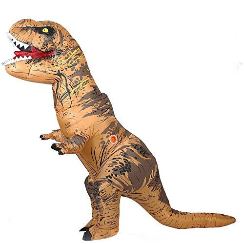 T-Rex-Dinosaur-Inflatable-Costume-Halloween-Cosplay-Suit-Adult-Fantasy-Costume-Brown