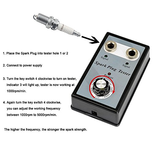 Automotive Spark Plug Tester with Adjustable Double Hole Detector Car Ignition Analyzer by VXSCAN (Image #2)