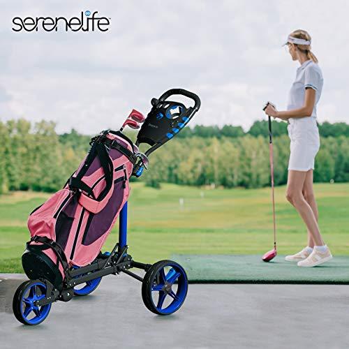 3-wheel golf push cart