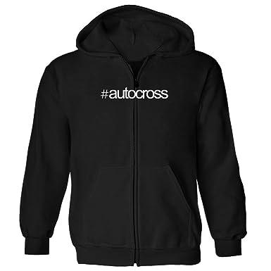 dcc1efabeb Amazon.com  Idakoos - Hashtag Autocross - Sports - Zip Hoodie  Clothing