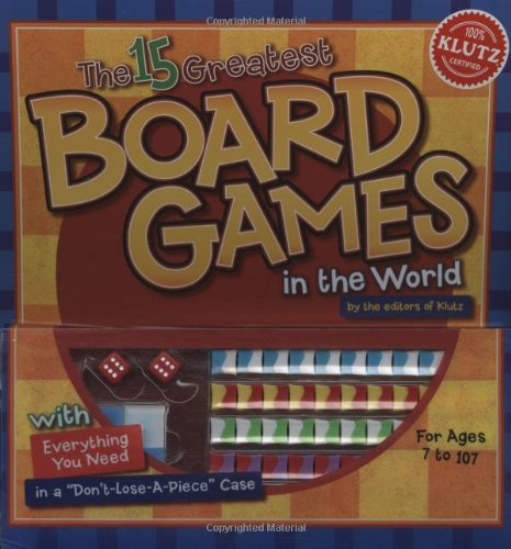 Klutz Book: The 15 Greatest Board Games in the World by Klutz