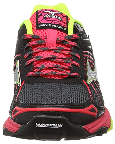 Negro Mujin para de Mizuno Mujer Amarillo Trail Zapatillas Frambuesa Wos Flúor Wave Running AHHznqp