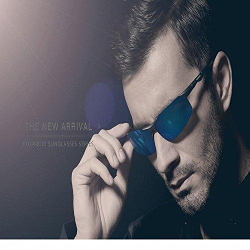 de del Gafas Tamaño magnesio de de Las Aluminio del polarizador de Sol Un wei azul Gafas Negro Sol Y7nUaXa