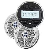 Jbl JBLMPK175 Usb Bluetooth Gauge Style Stereo 6.5 in. Coaxial Marine Speakers Pair