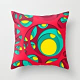 Uloveme 20 X 20 Inches / 50 By 50 Cm Geometry Cushion Covers,each Side Is Fit For Him,adults,chair,home,dinning Room,kids Girls