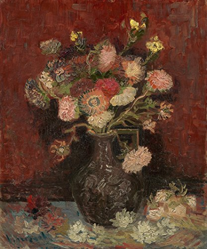 Wieco Art Vase with Chinese Asters and Gladioli by Van Gogh Famous Oil Paintings Reproduction Modern Abstract HD Canvas Prints Wall Art Flowers Artwork Pictures for Bedroom Kitchen Home Decorations (Art Canvas Deco Print)