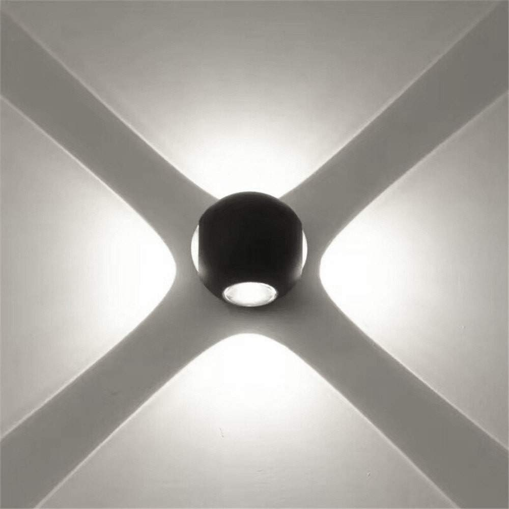 Longay Wall Sconces Wall Lights LED Aluminum Round Waterproof Light Home Decoration (B)