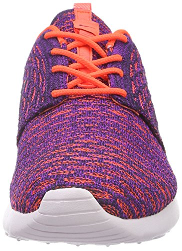 Nike Frauen Roshe One Flyknit Laufschuhe Total Crimson Vivid Purple 803