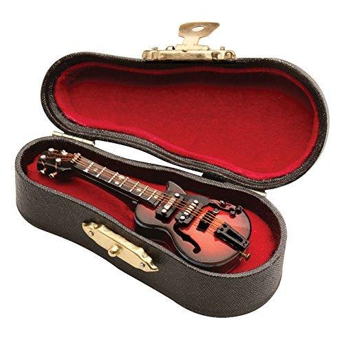 Women's Miniature Musical Instrument Lapel Pins - Velvet Lined Case - Electric Guitar - Miniature Guitar Shop