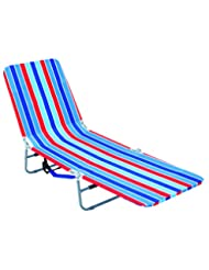 Rio Brands Backpack Lounger Multi Position, Red Blue and Turq...