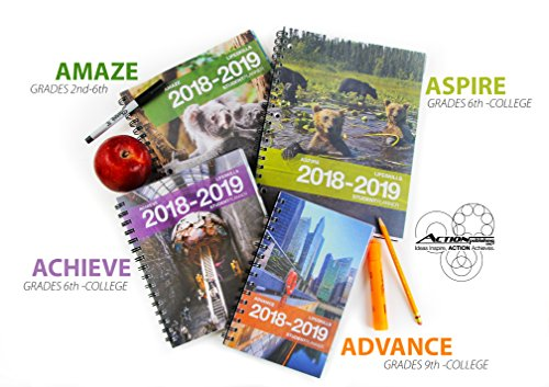Aspire Student Planner (8.5 x 11 inches) August 2018 - July 2019 Academic Agenda - Inspiring Full Color Organizer for Goal Setting, Time Management, Study Skills & More - [Grades 6th - 12th] by Action Publishing (Image #6)