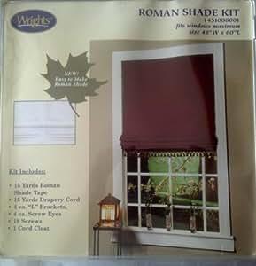 """Roman Shade Kit 1451008001, fits windows maximum 48""""W X 60""""L"""