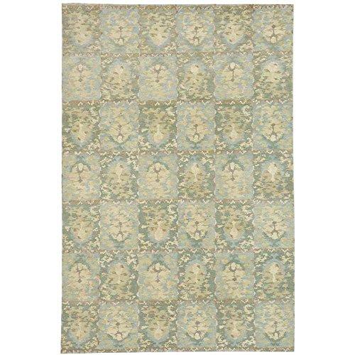 Safavieh Martha Stewart Collection MSR8625B Reflection Premium Wool and Silk Water Area Rug (6' x 9')