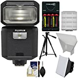 Fujifilm EF-X500 Shoe Mount Flash & LED Video Light with Soft Box + Bounce Reflector + Batteries & Charger + Tripod + Kit