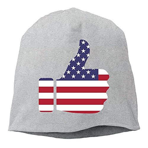 AUUOCC Headscarf Hands Flag Hip-Hop Knitted Hat for Mens Womens Fashion Beanie Cap (Beanie Nike Wool)